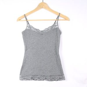 Express Gray Lace Camisole XS